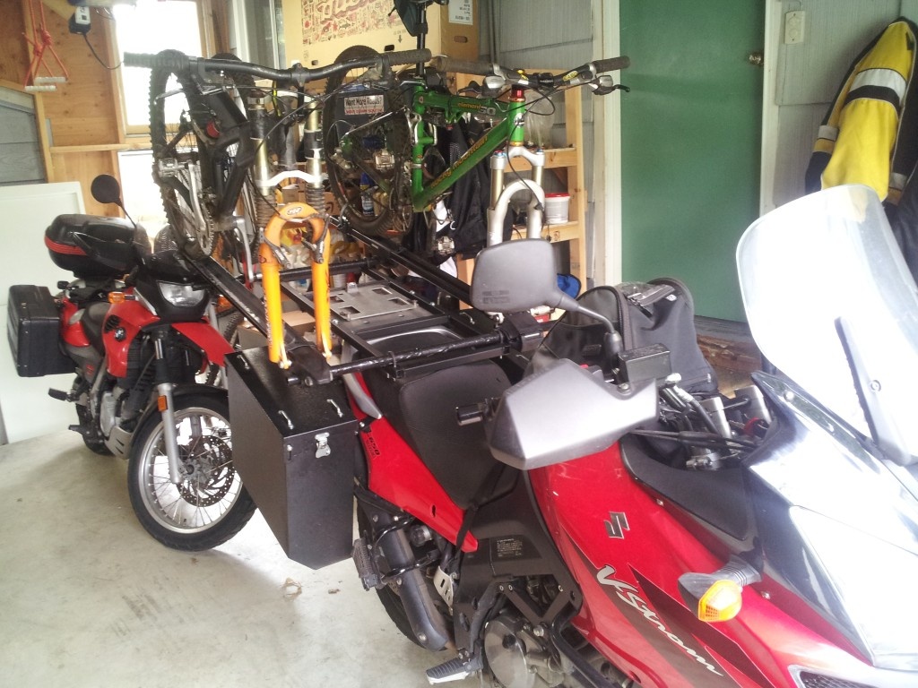 Motorcycle Ski Rack