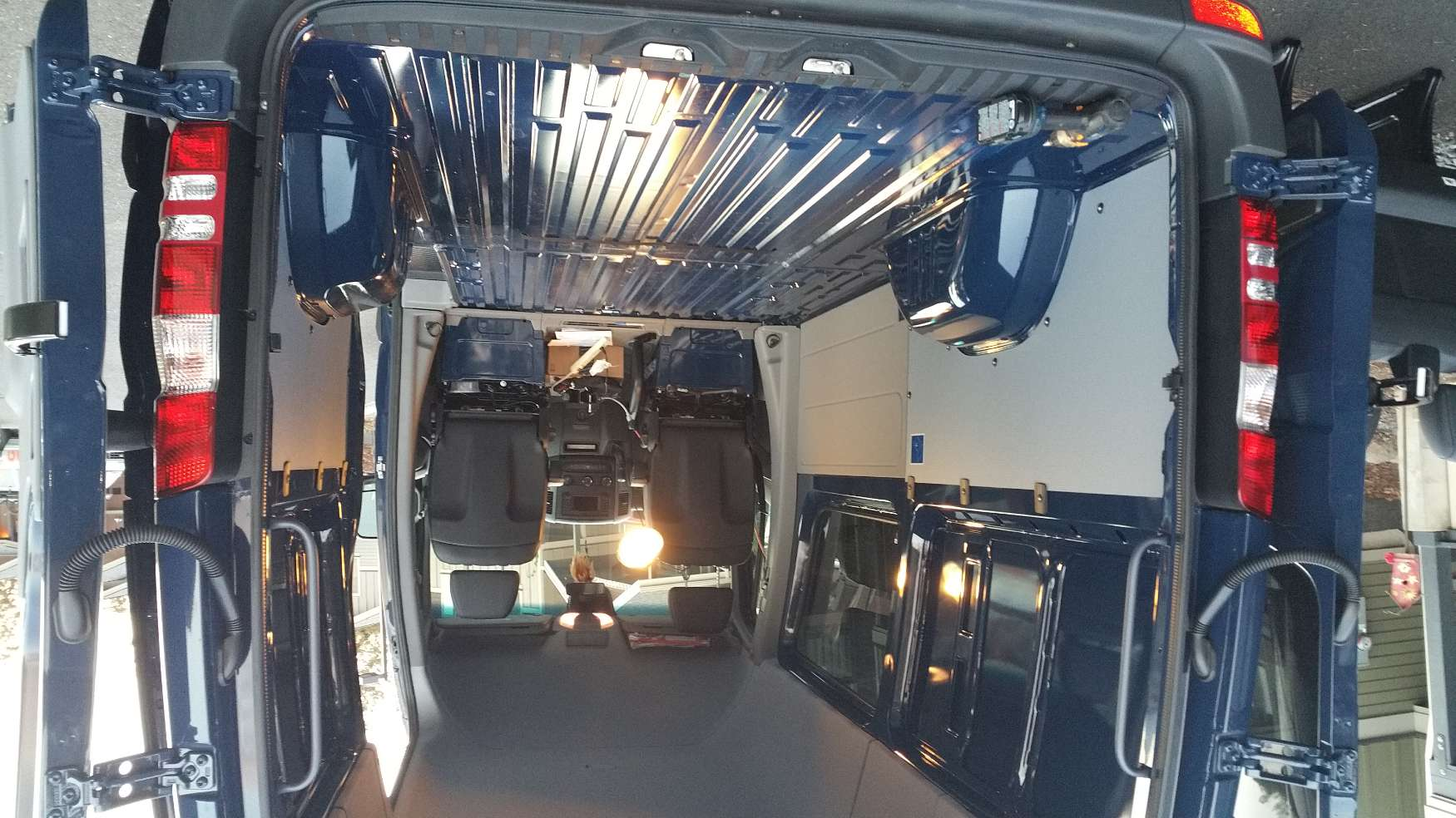 Converting a Sprinter Van to a Camper: Moving the Back Seat