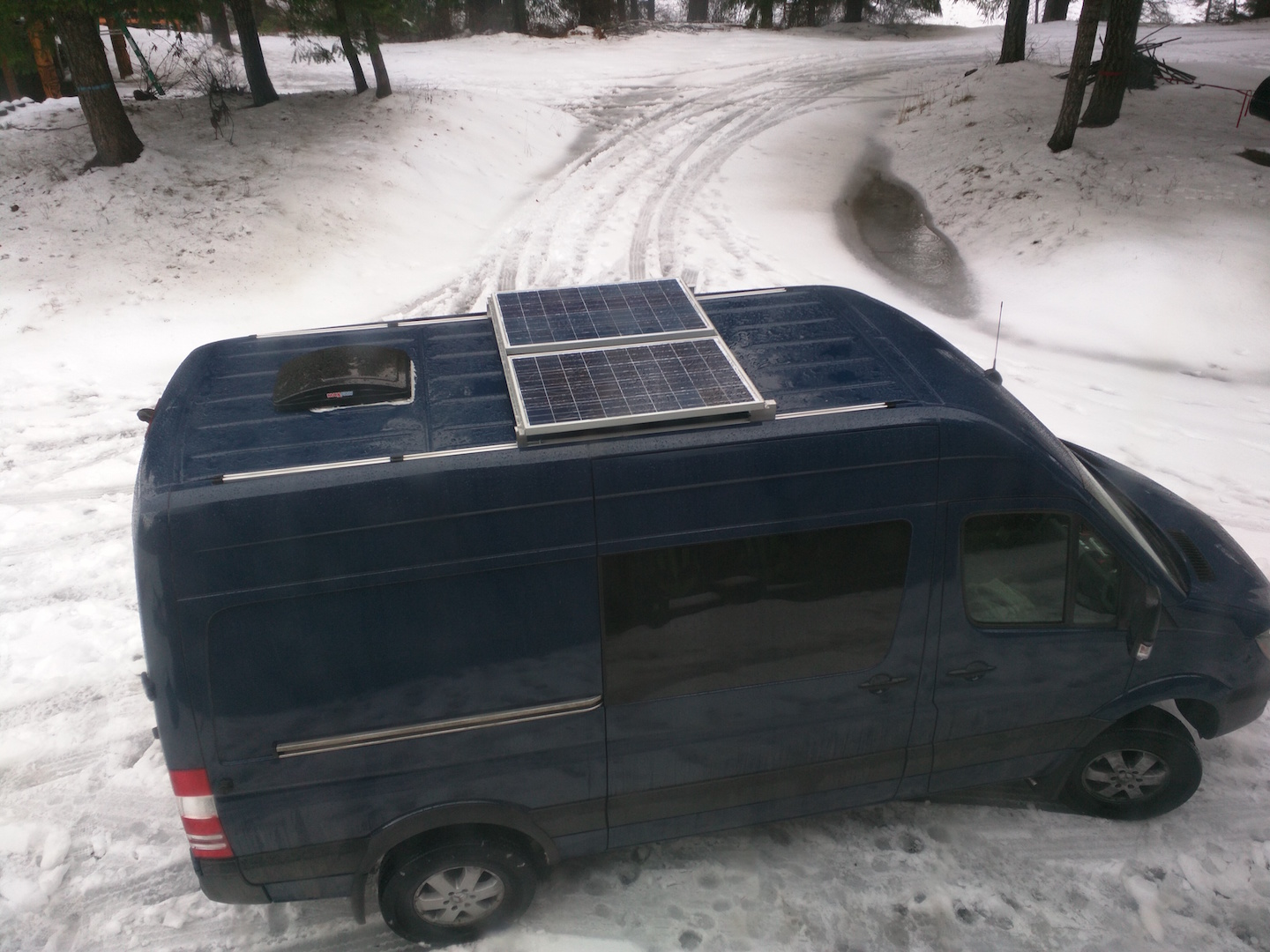 Converting A Sprinter Van To Camper Installing Solar Panels And Rv Systems That Pretty Much Sums Up Our Panel Installation Experience I Think The Finished Product Looks Good Certainly Functions Very Well