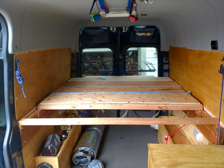 Sprinter Adventure Van Build Bed Platform Points Unknown