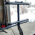 vertical ski rack