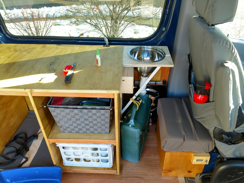 Sprinter Adventure Van Build Kitchen Points Unknown