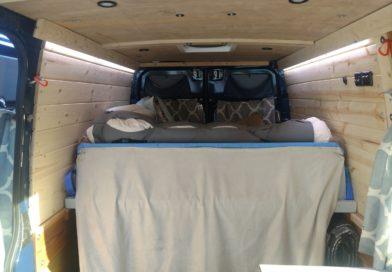 Sprinter Adventure Van – New Ceiling and Wall Panel Installation (+ lighting)