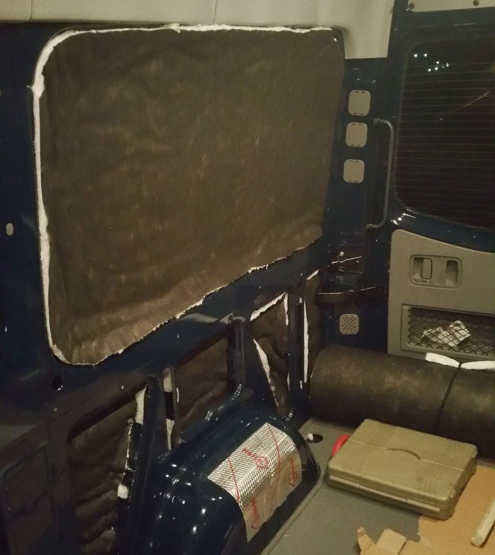 Converting a Sprinter Van to a Camper - Sound Deadening