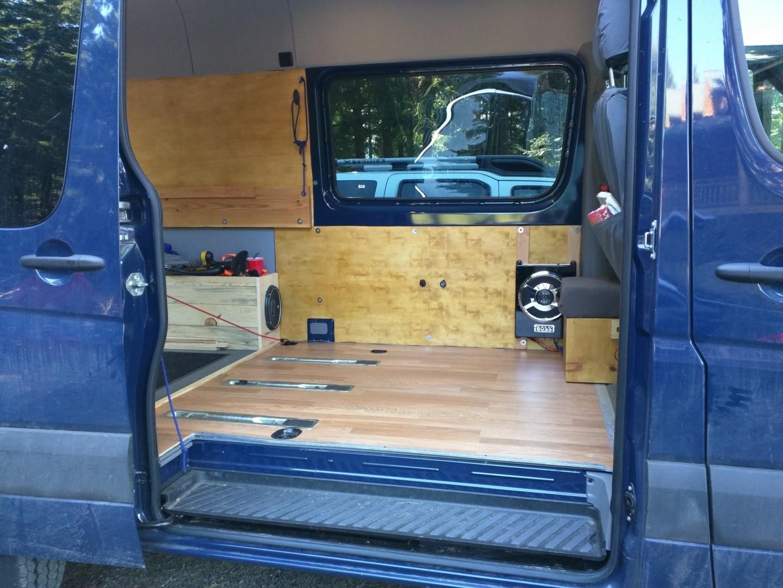 Mercedes Sprinter Rv >> Converting a Sprinter Van to a Camper - Installing Laminate Wood Flooring